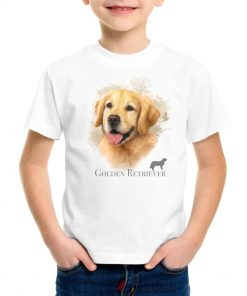 K1005-golden-retriever-camiseta-niño-blanca