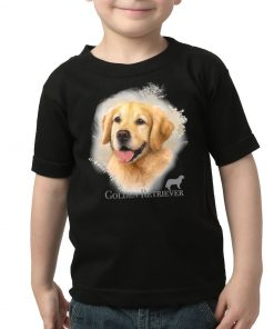 K1005-golden-retriever-camiseta-niño-negra